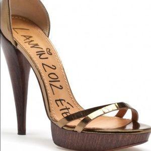 Lanvin 2012 Ete Bronze Sandal. EUC!